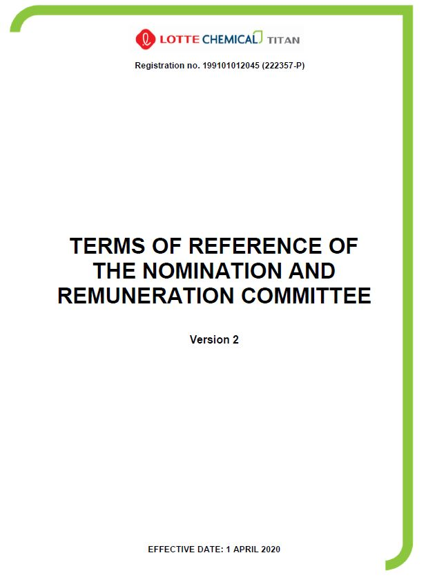 TOR of Nomination and Remuneration Committee