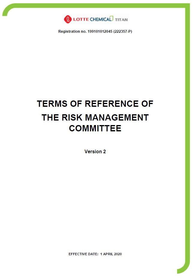 TOR of Risk Management Committee
