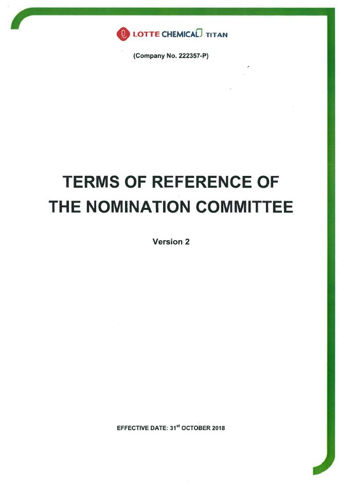 TOR of Nomination Committee